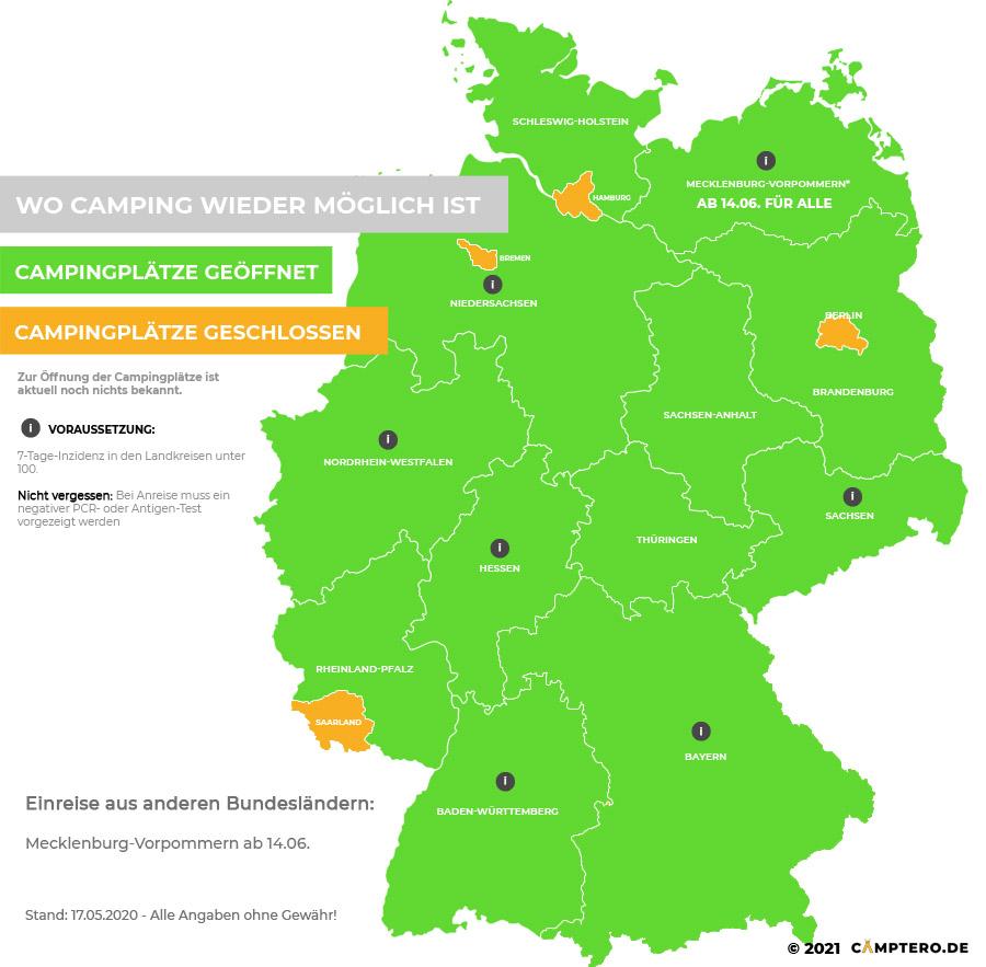 Camping in Deutschland Corona 2021